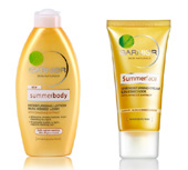 Garnier summerbody and summerface lotion