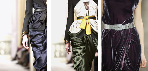 drapery and layers of silk in style FALL 2009